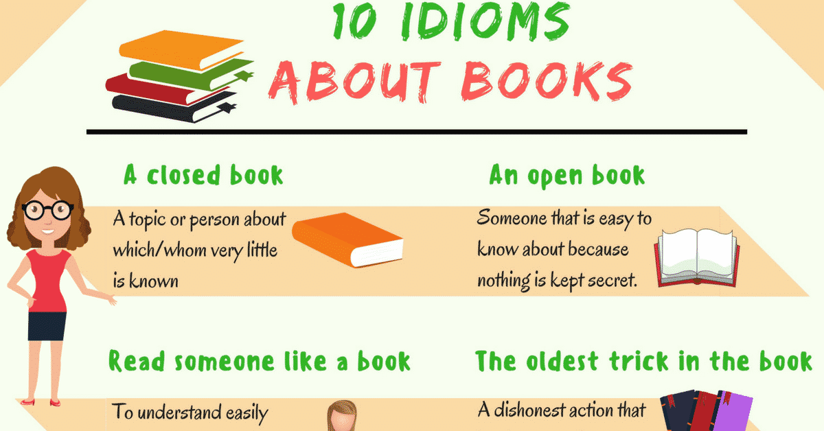 15+ Interesting Idioms about Books in English 4