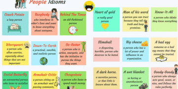 25+ Common Idioms to Describe People in English 4