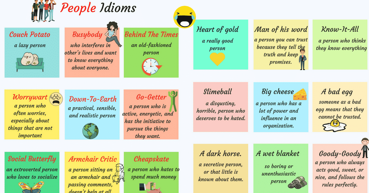 25+ Common Idioms to Describe People in English 3