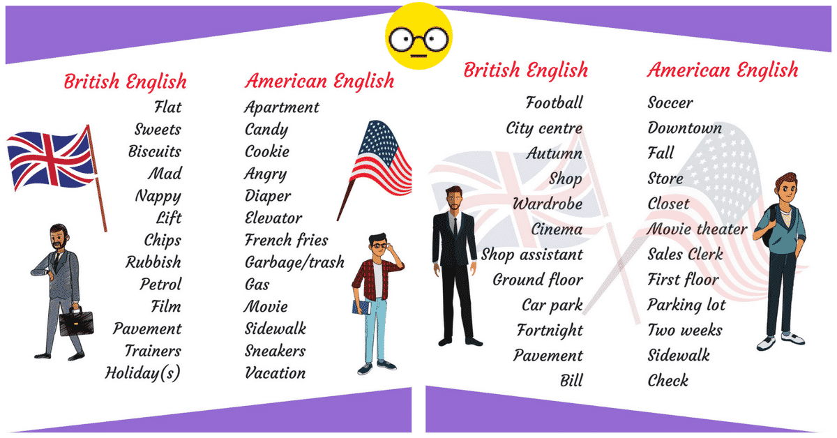 What Are the Differences Between British and American English? 5