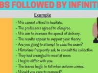 Verbs Followed by Infinitives in English 6