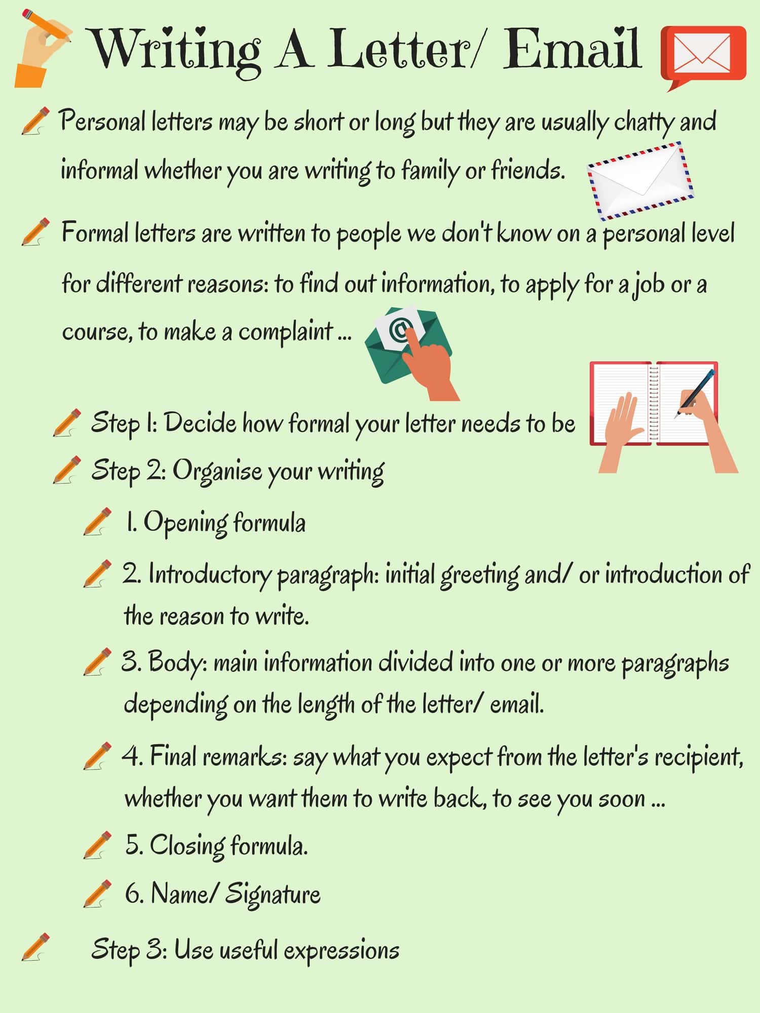 Writing a Letter or Email