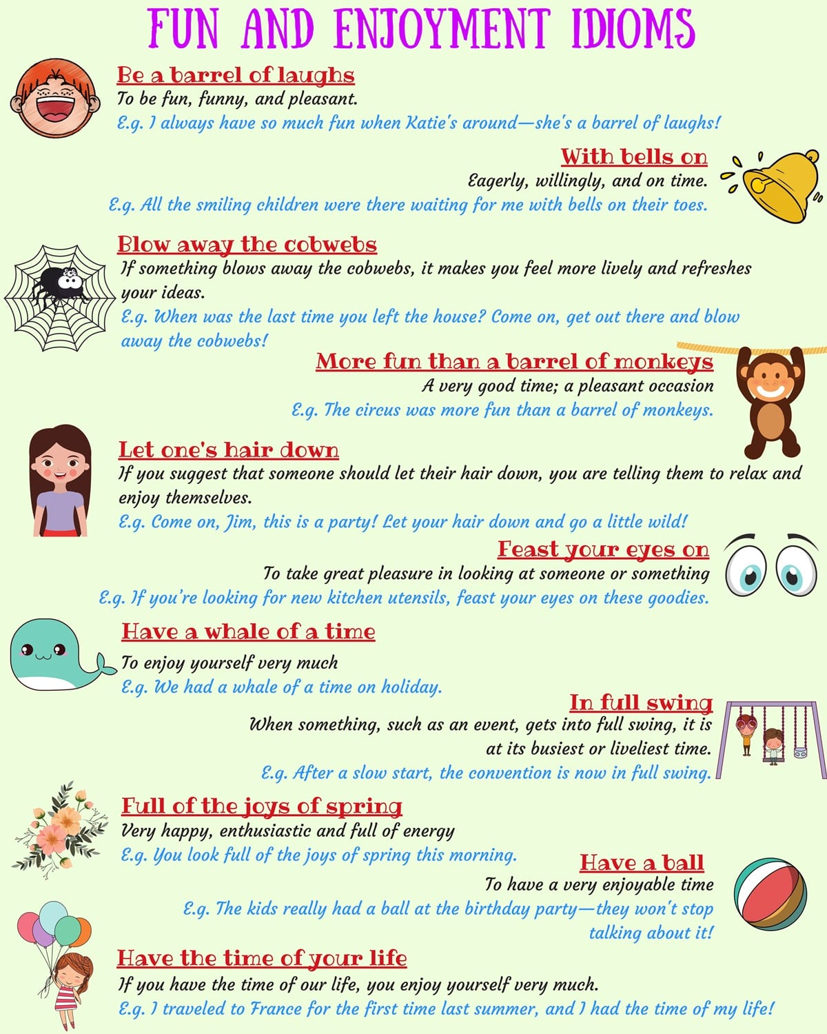 15+ Useful Idioms about Happiness in English