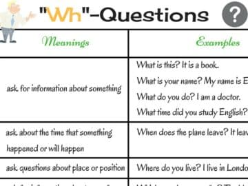 WH Question Words in English: Who, What, When, Where, Why … 14