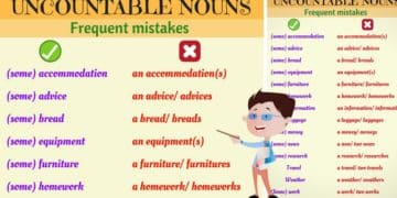 Common Errors with Uncountable Nouns in English 1