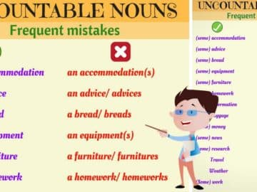 Common Errors with Uncountable Nouns in English 14