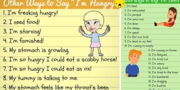 Different Ways to Say I'm Hungry and I'm Tired 12