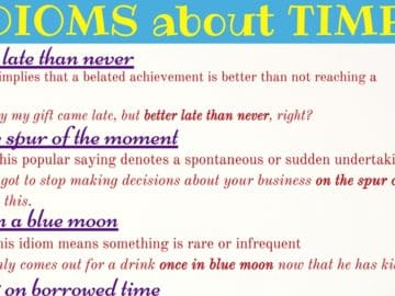 12 Useful Idiomatic Expressions with TIME in English 14