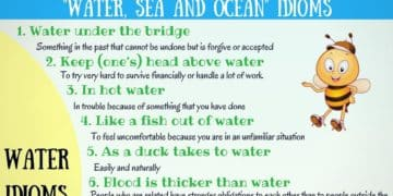 WATER, SEA and OCEAN Idioms in English 12
