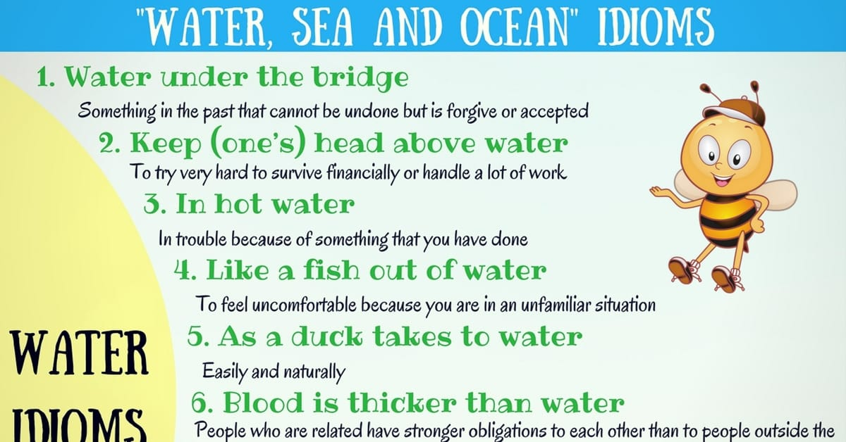 Popular WATER, SEA and OCEAN Idioms in English 5