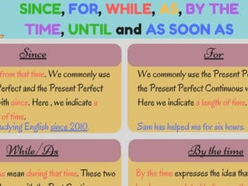 Grammar: Time Clauses in English 16
