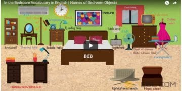 [Video] Bedroom Vocabulary in English. 10