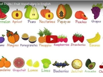 [Video] Fruits Vocabulary in English 28