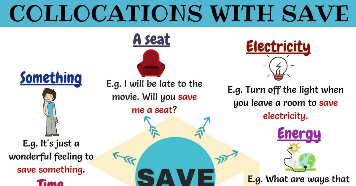 Common English Collocations with the Word SAVE 4