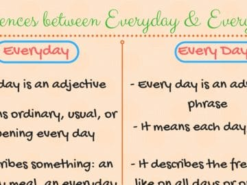 Differences between EVERY DAY and EVERYDAY 16