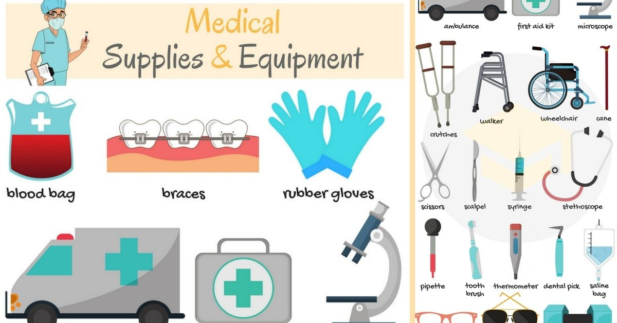 Medical Supplies and Equipment Vocabulary in English 8