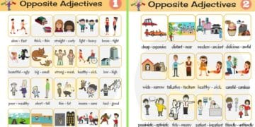 List of Opposite Adjectives in English 5