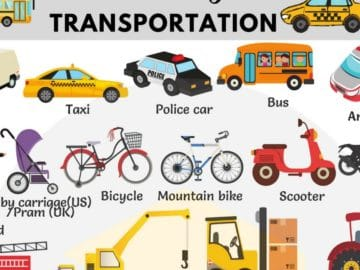 Vehicles and Transportation Vocabulary in English 18