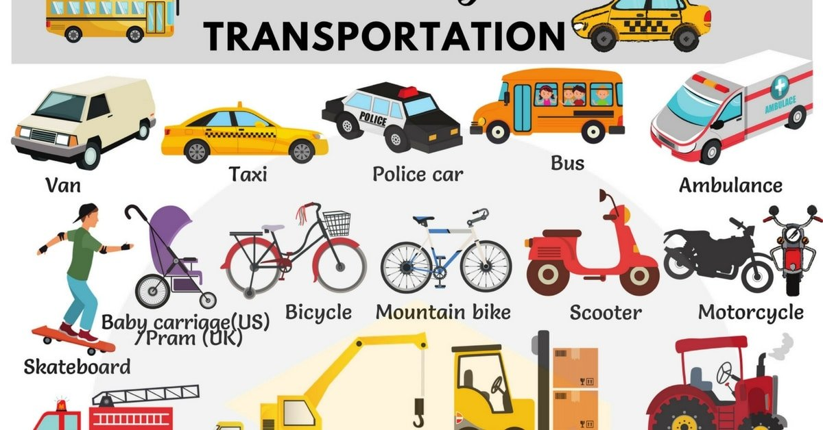 Vehicles And Transportation Vocabulary In English