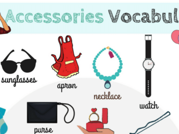 Accessories Vocabulary in English 23