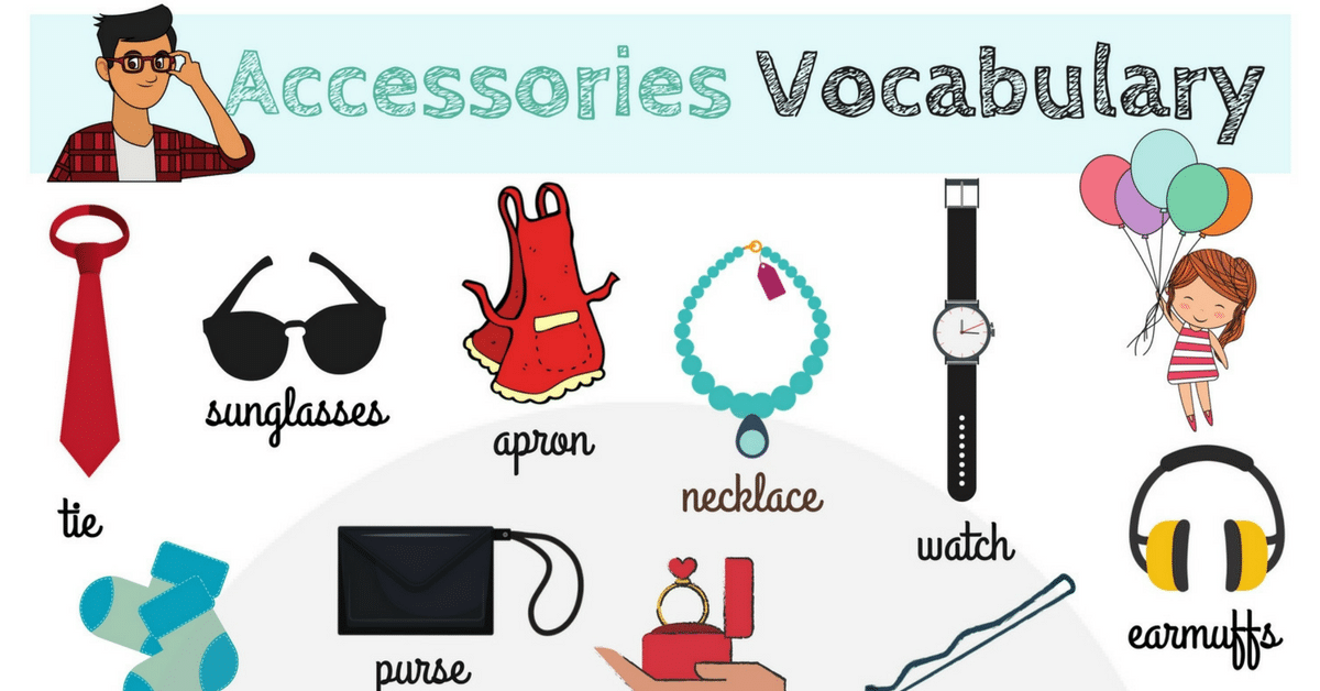 Accessories Vocabulary in English 8