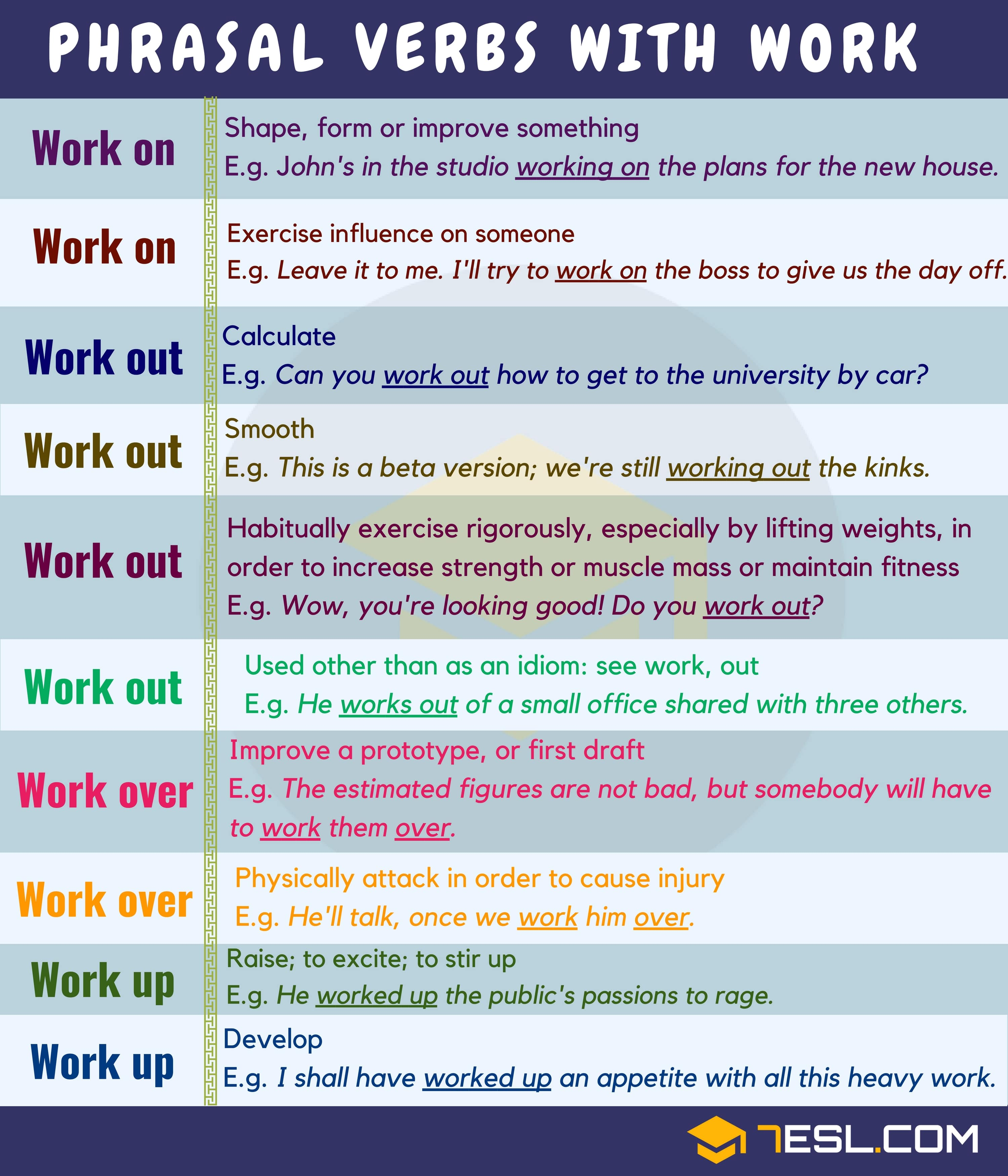 Common Phrasal Verbs with WORK