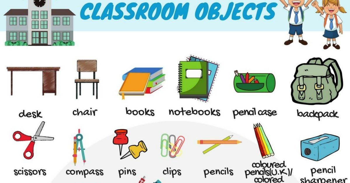Classroom Objects in English 3