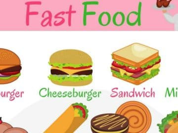 English Vocabulary for Fast Food 17