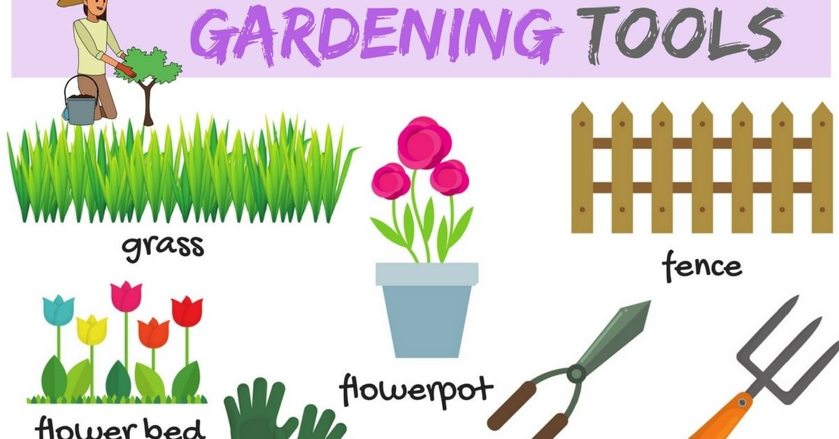 Learn Gardening Tools Vocabulary in English 2