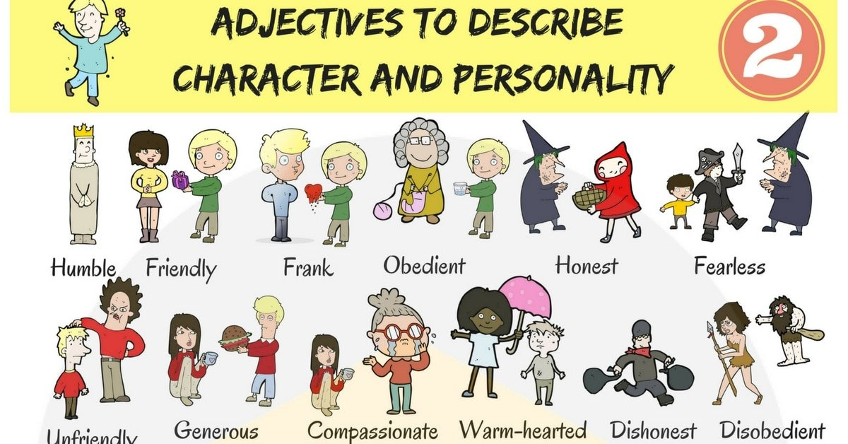 English Adjectives for Describing Character and Personality 6