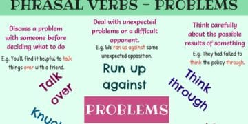 Common Phrasal Verbs for Talking about Problems in English 10