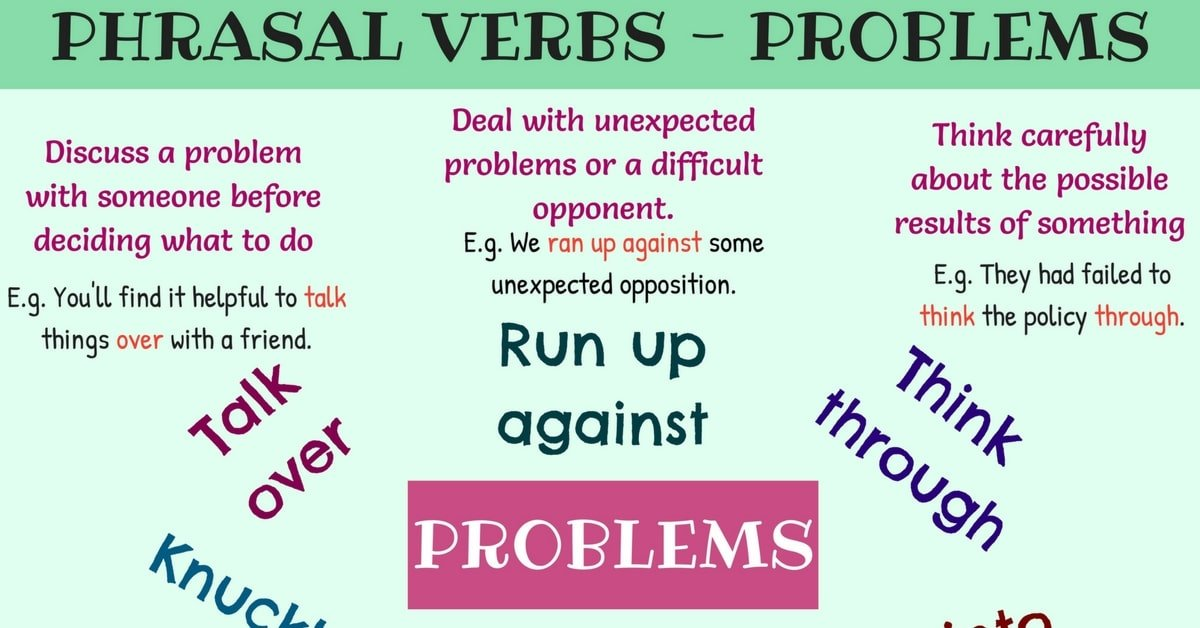 Common Phrasal Verbs for Talking about Problems in English 5