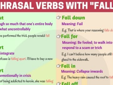 English Phrasal Verbs with FALL You Should Know 12