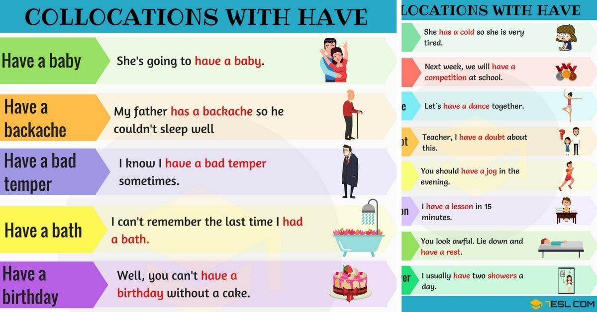 Commonly Used Collocations with HAVE in English 7