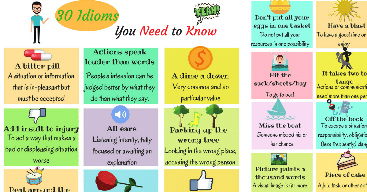 The 30 Most Useful Idioms and their Meaning 7