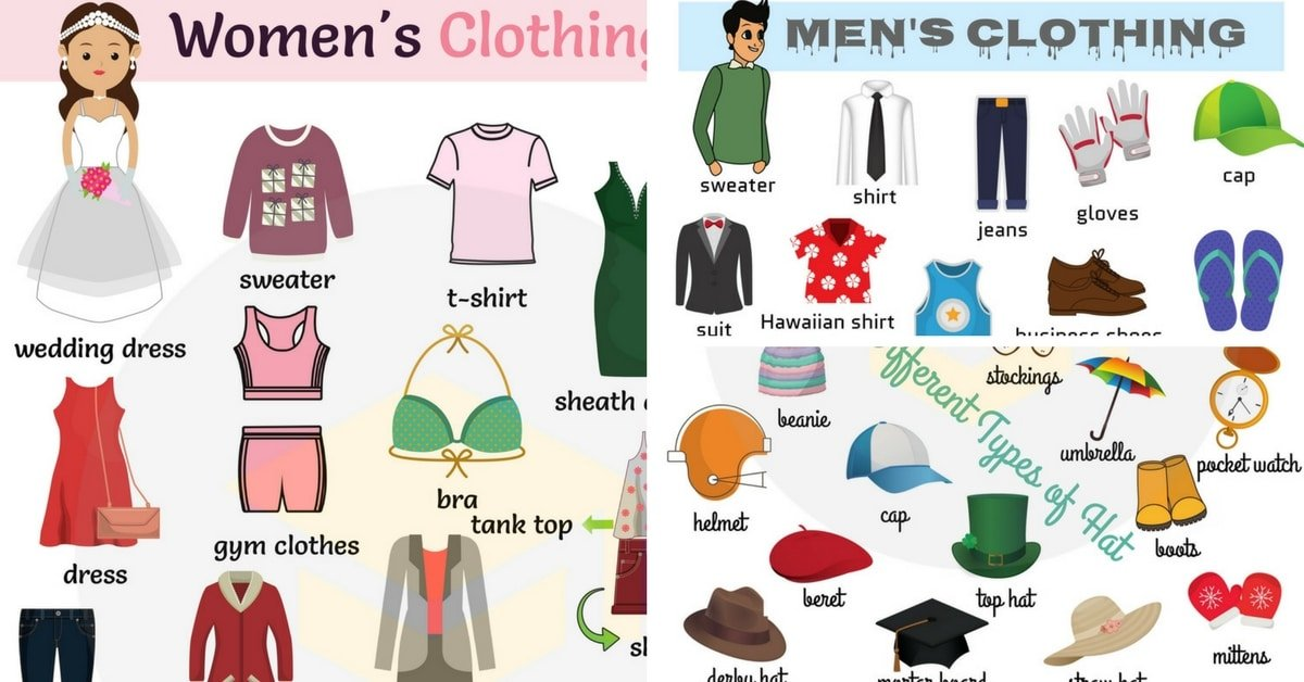 Clothes Vocabulary: Learn Clothes Name with Pictures 7
