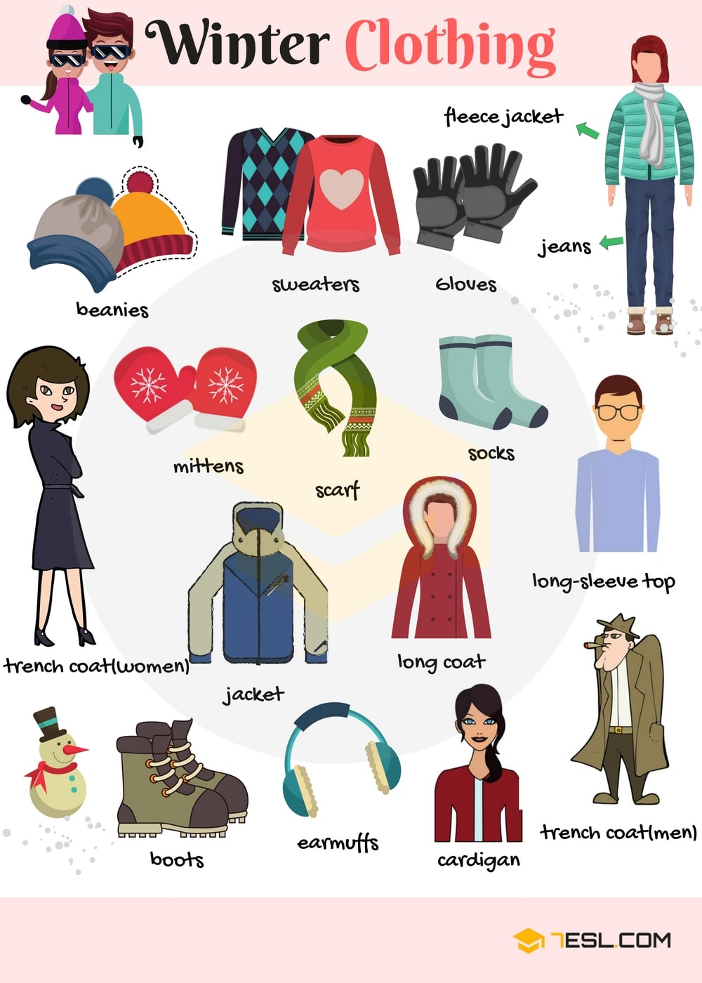 Learn Winter Clothing Vocabulary through Pictures