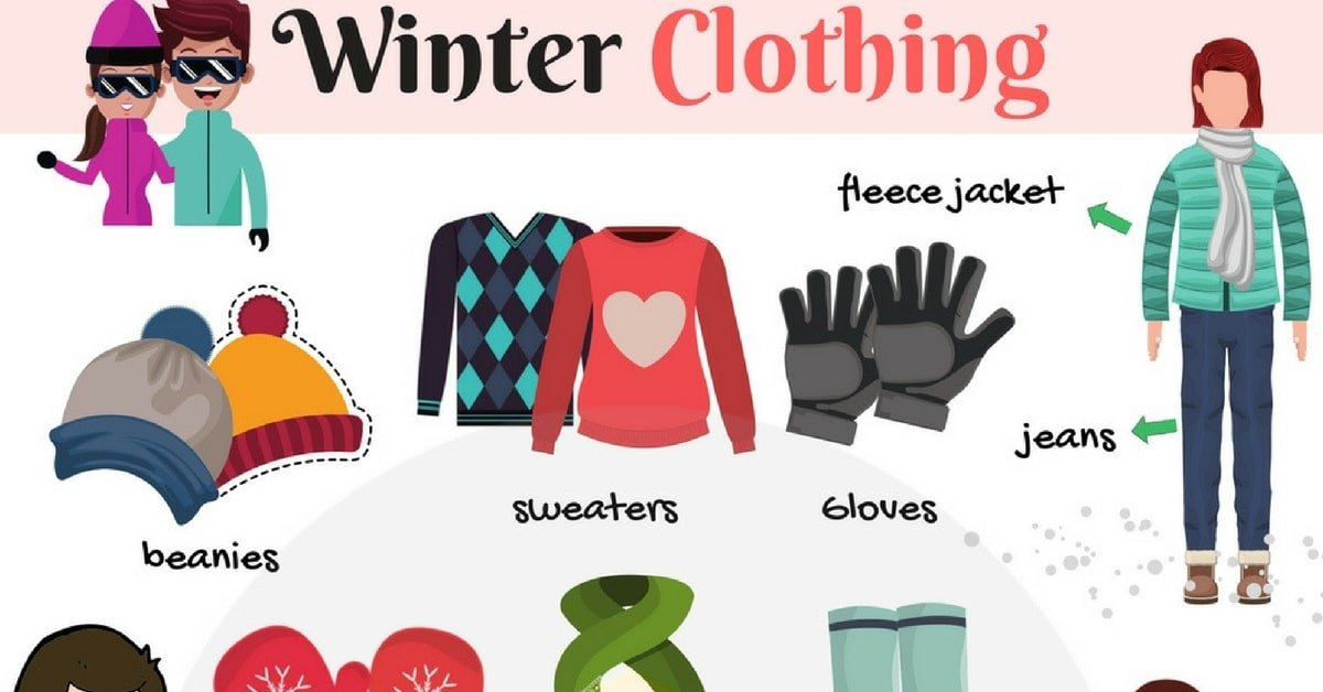 Learn Winter Clothing Vocabulary through Pictures 7
