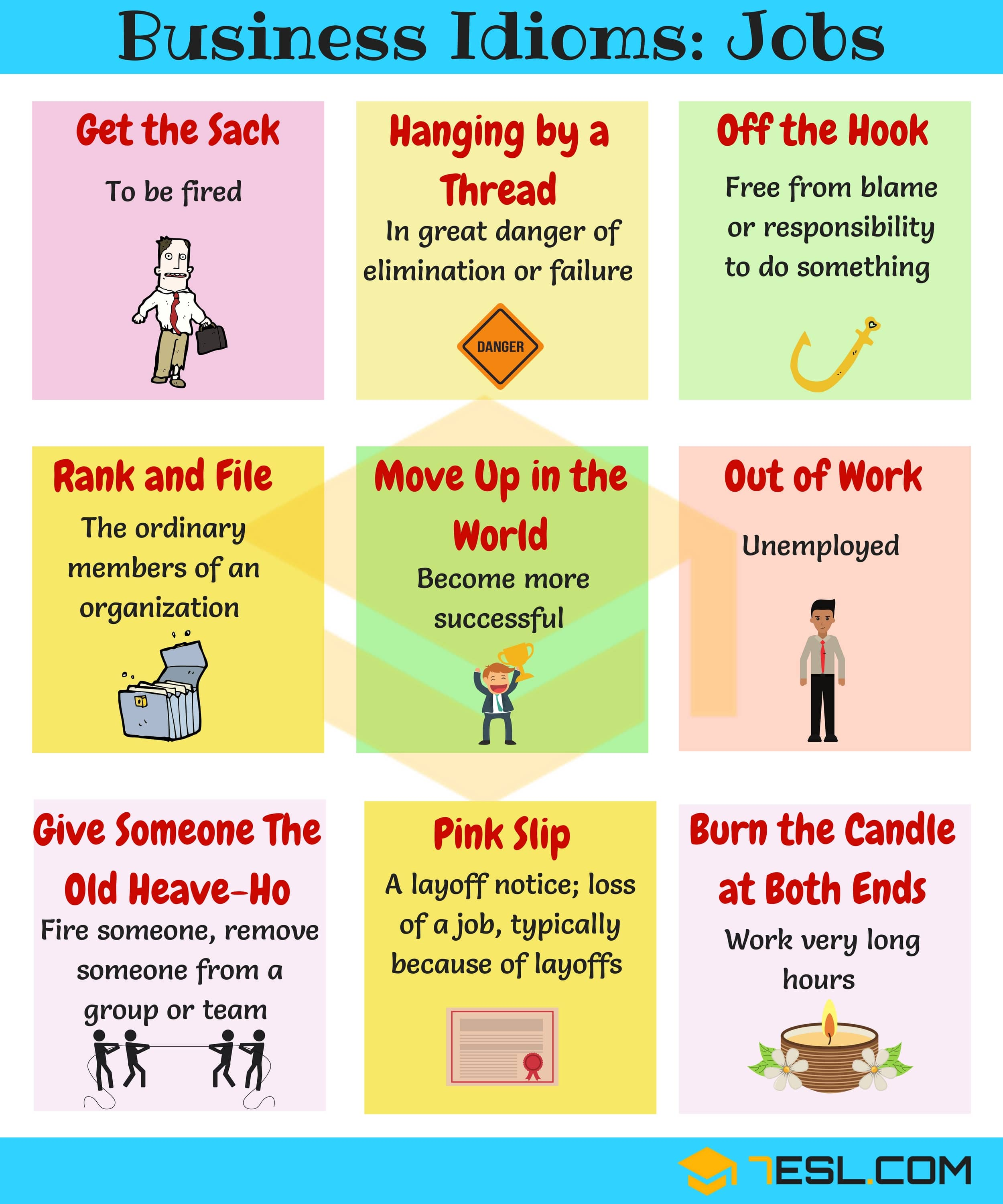 Idioms about Job
