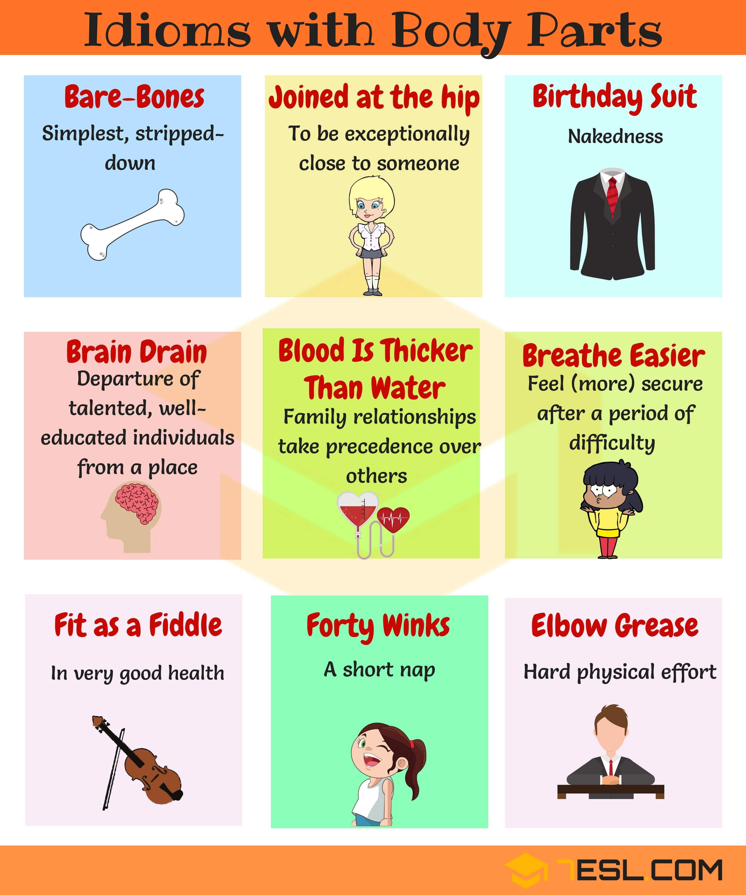 Useful English Idioms with Body Parts