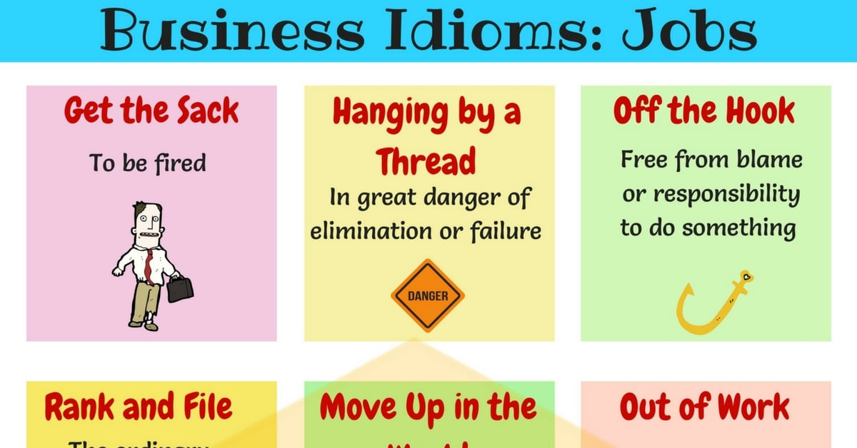 Learn Useful English Idioms about Job 20