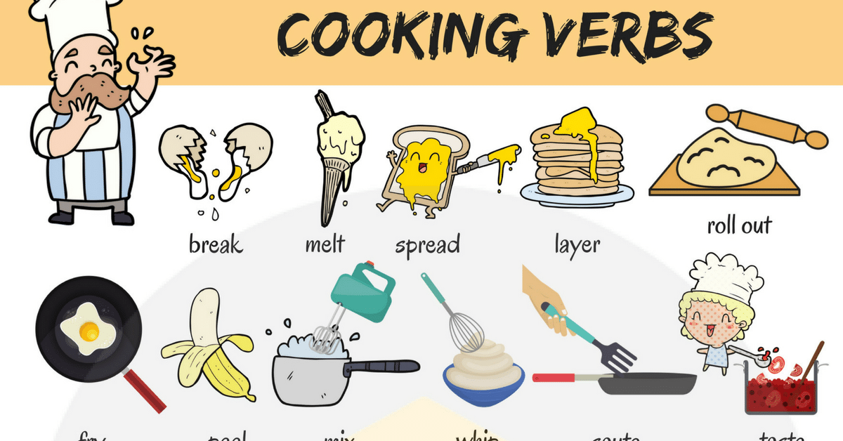 Learn Cooking Verbs in English 10