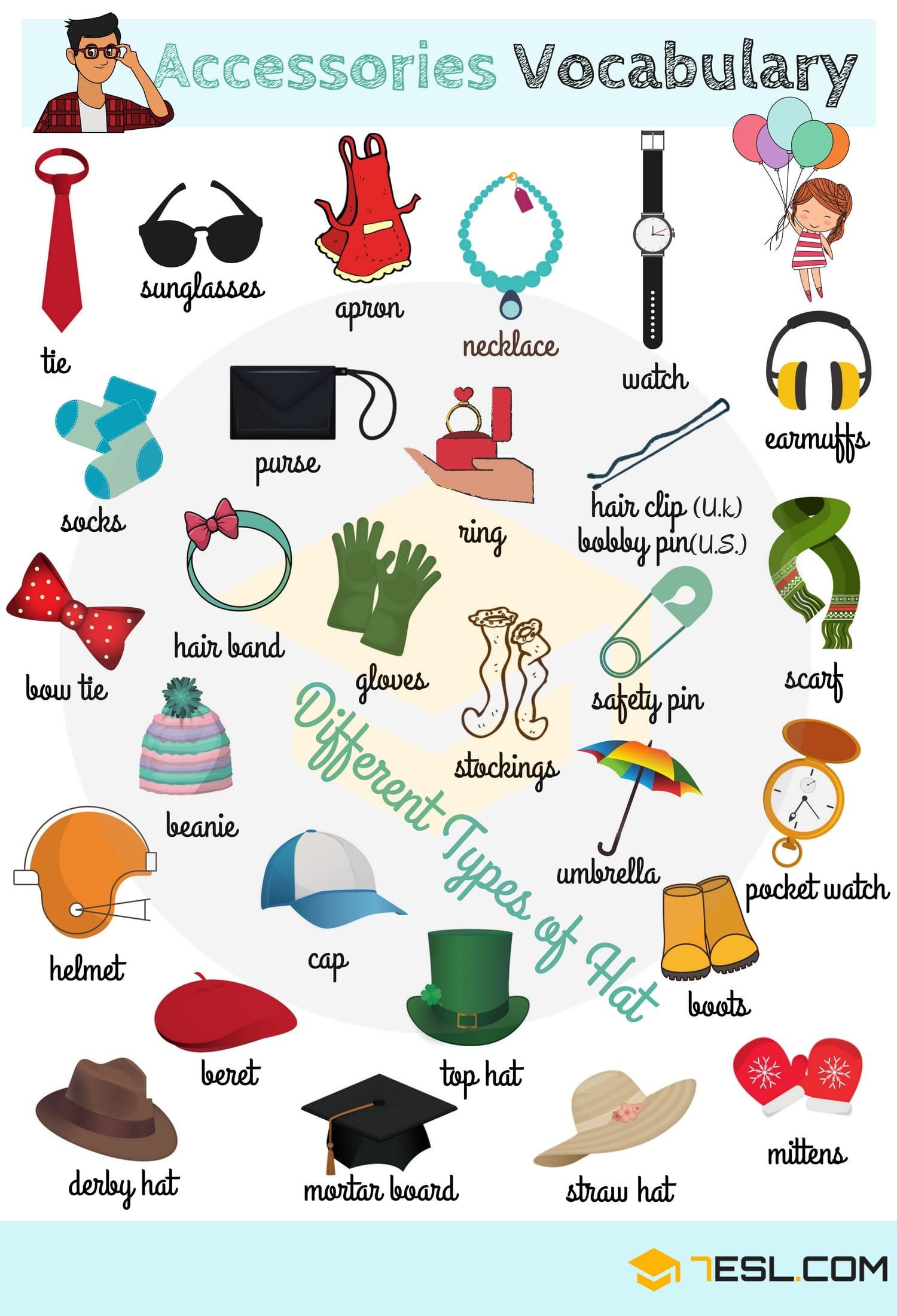 Types of Clothing: Learn Clothes and Accessories Vocabulary in English 7