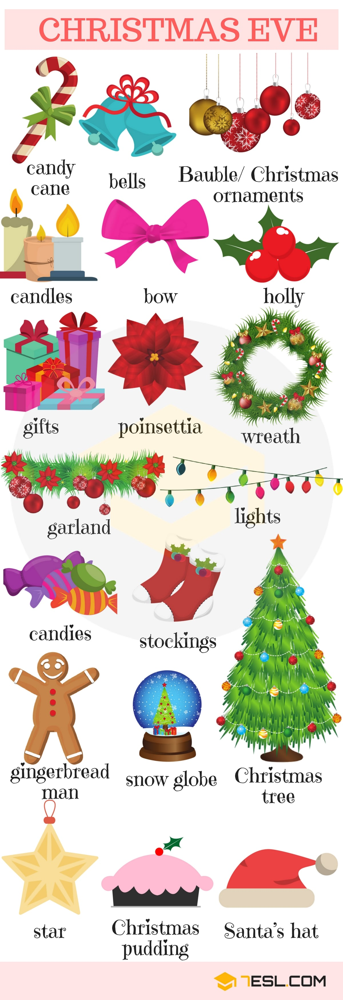 Holidays Vocabulary in English 3