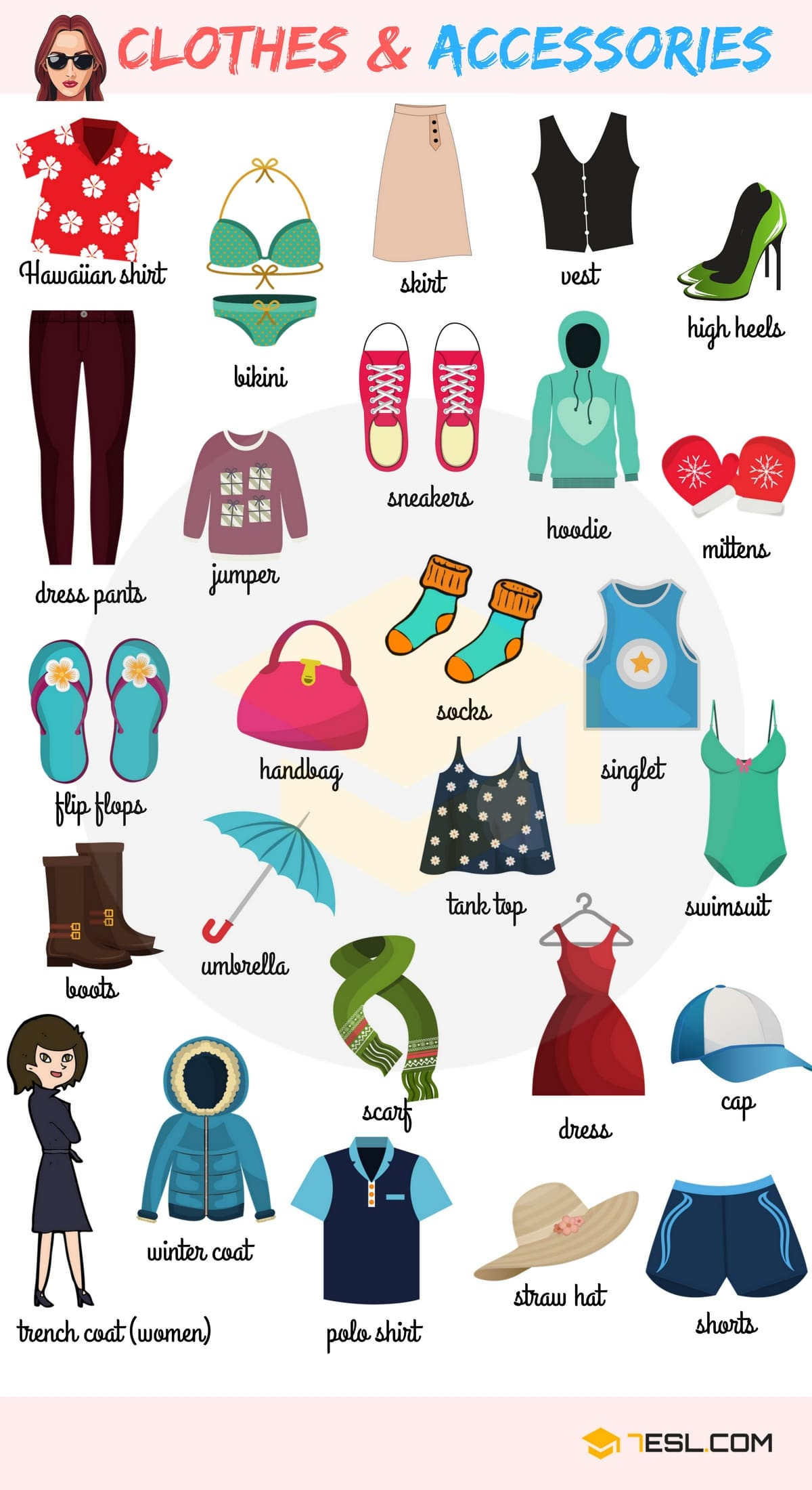 Types of Clothing: Learn Clothes and Accessories Vocabulary in English 6