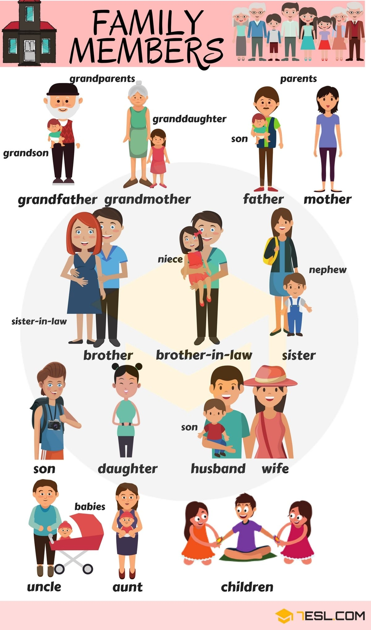 Members of the Family Vocabulary in English 2