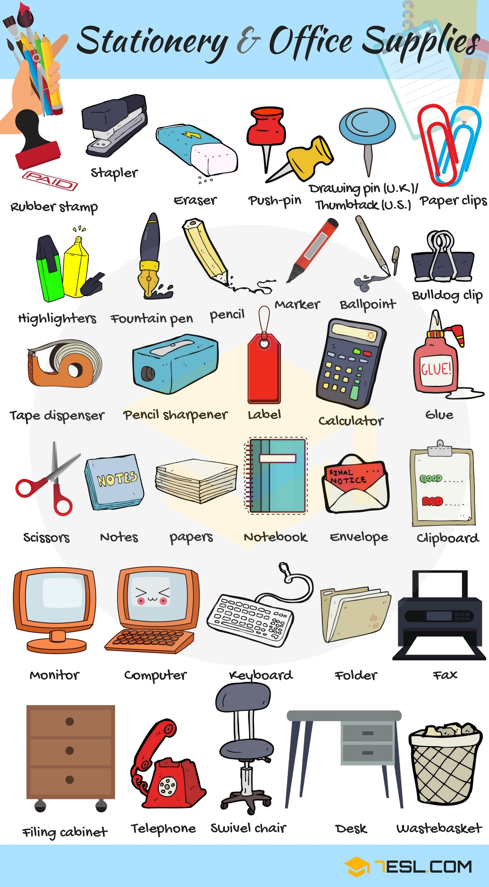 Tools and Equipment Vocabulary in English 7