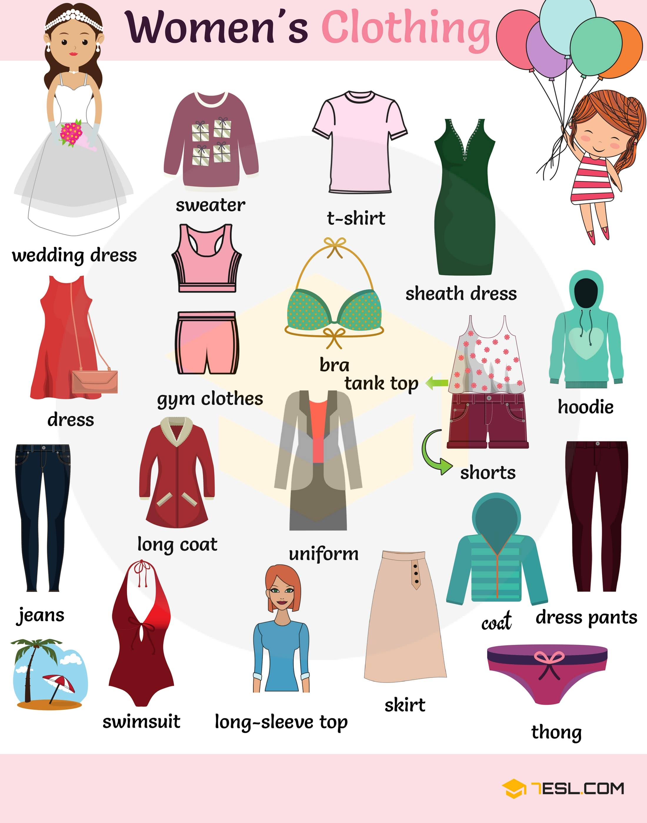 Types of Clothing: Learn Clothes and Accessories Vocabulary in English 2
