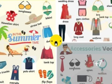 Learn Clothes and Accessories Vocabulary in English 12