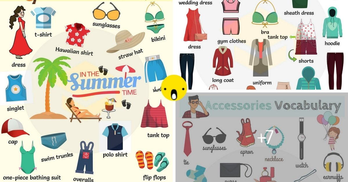 Learn Clothes and Accessories Vocabulary in English